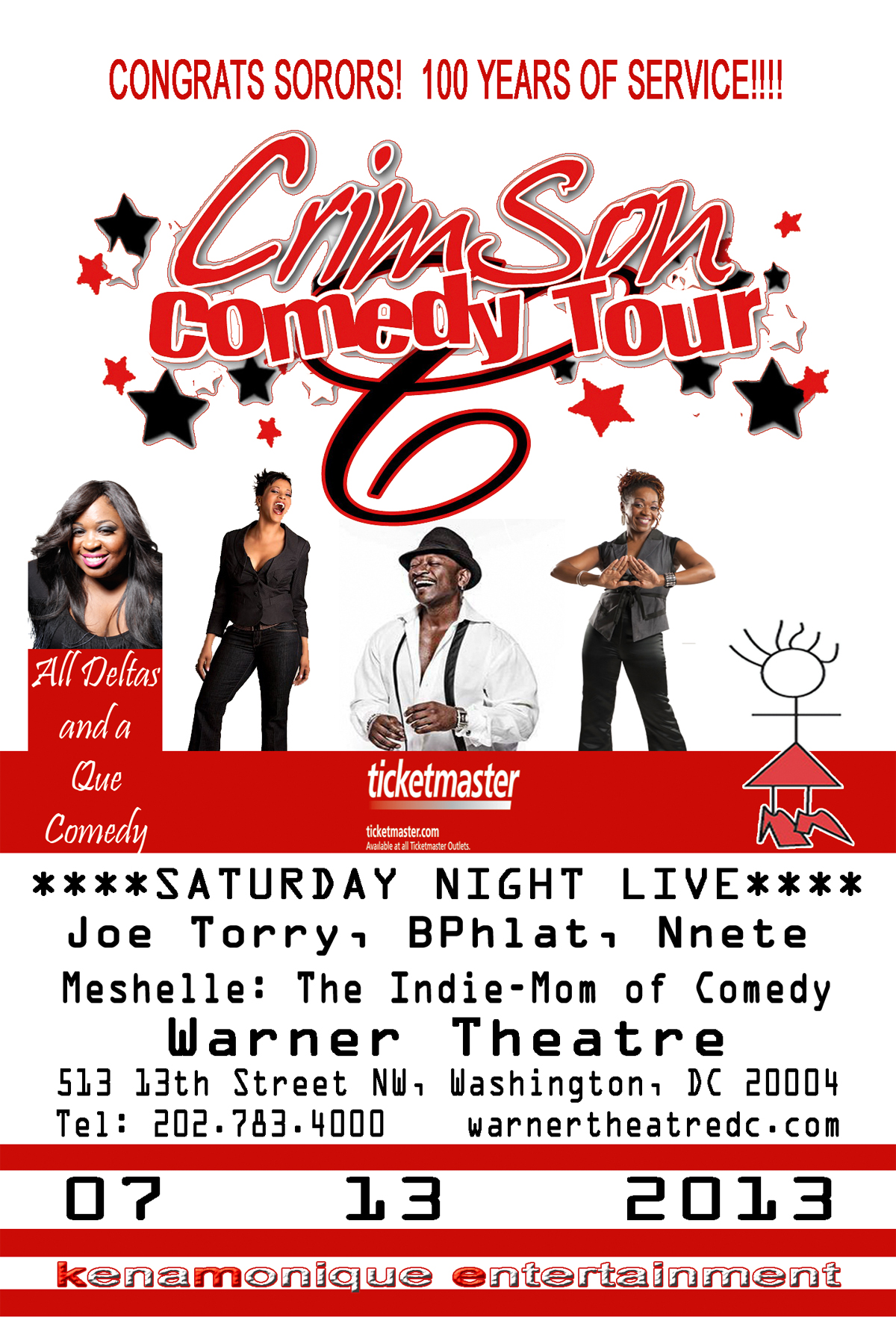 Oo-oop My Sorors!! See you in DC for the Crimson Comedy Tour!