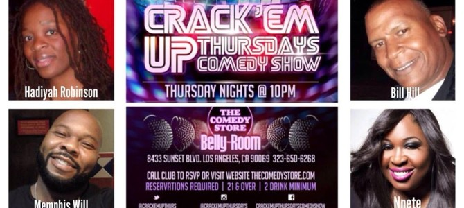 Nnete Performs At Crack Em Up Thursday at The Comedy Store